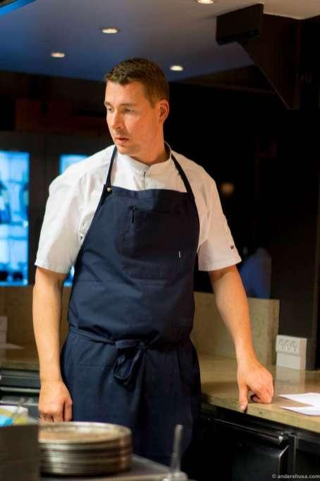 Studio's head chef Torsten Vildgaard