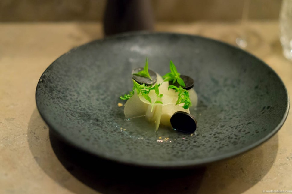 Clara friis pears and fermented garlic