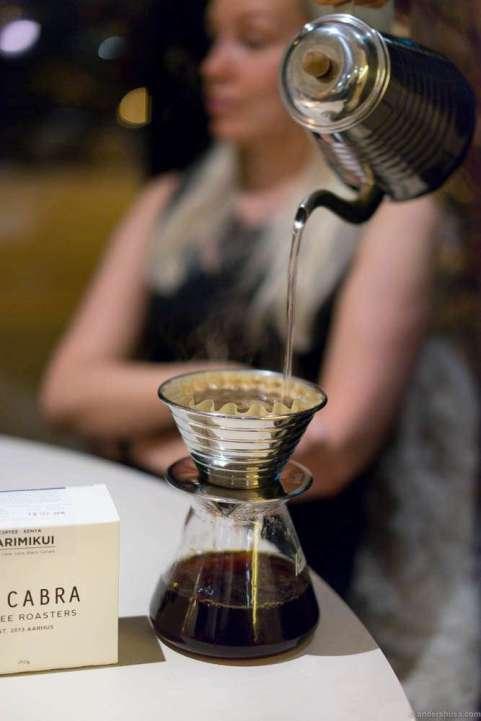 Coffee from La Cabra in Aarhus