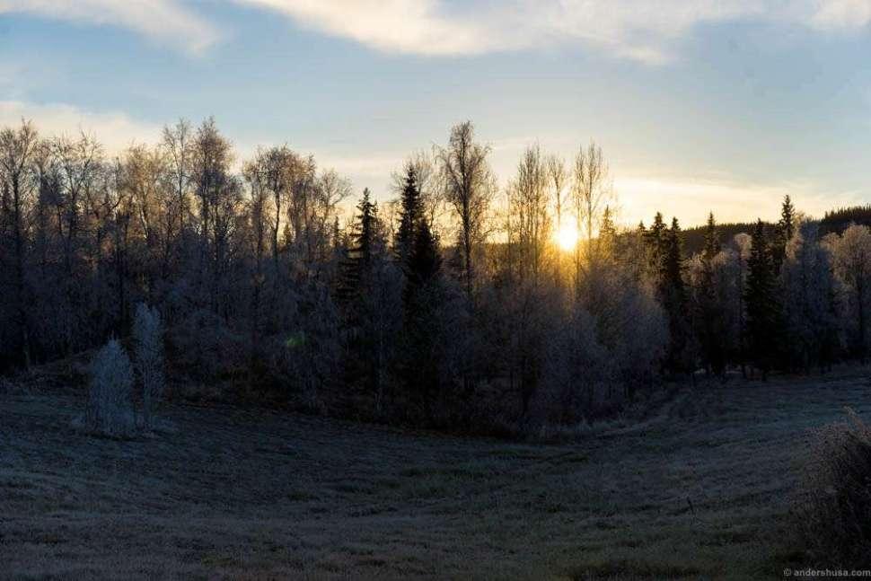 Sunrise at Fäviken in Järpen, Sweden