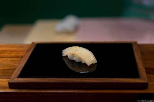Squid with Himalaya salt, sudachi & lime