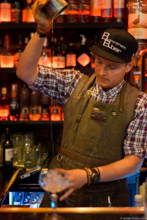 Head bartender Morten Sunde
