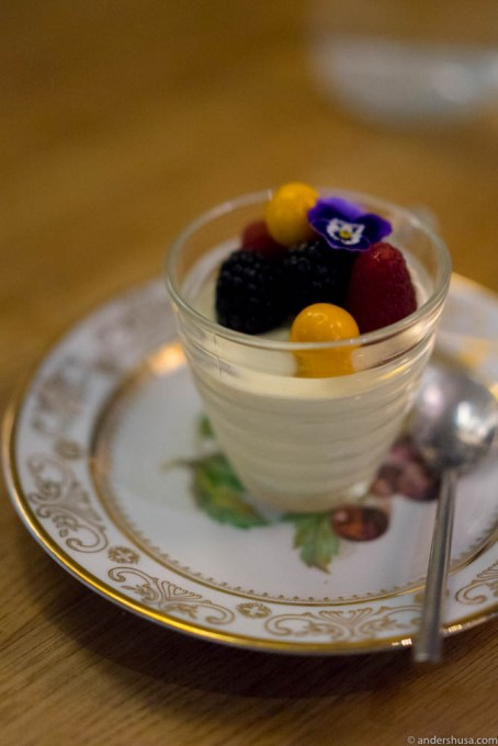 Panna cotta so airy and light you'll crave for one more