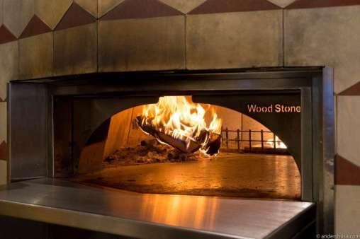 Semi wood-fired oven