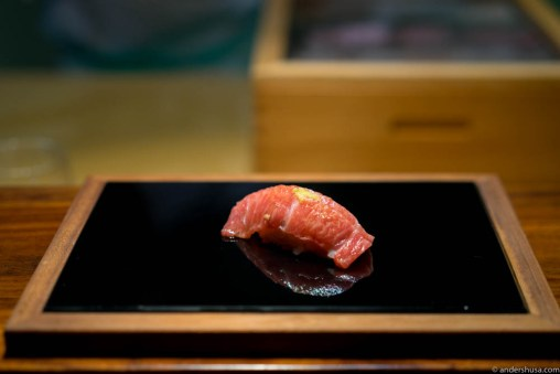 Tuna toro at Sabi Omakase