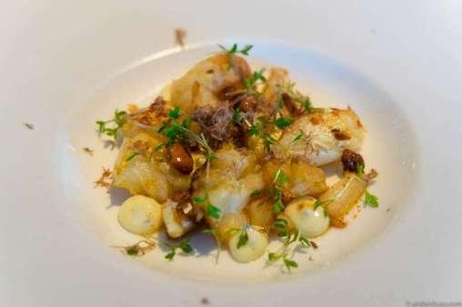 Celeriac, truffle mayo & burnt nuts