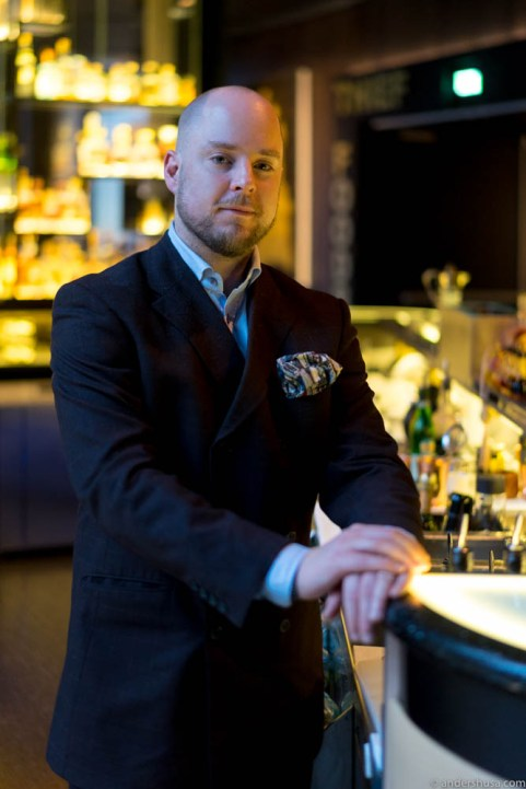 Bar manager Chris Grøtvedt
