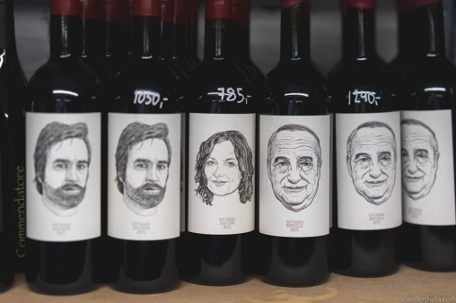 Gut Oggau is well represented with many faces in the wine cellar