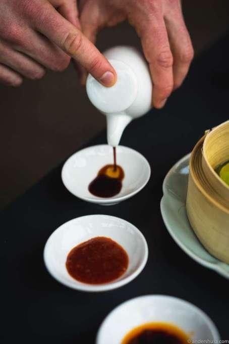 Three sauces for the dim sum