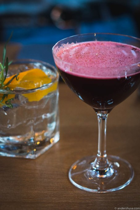 Red beets cocktail