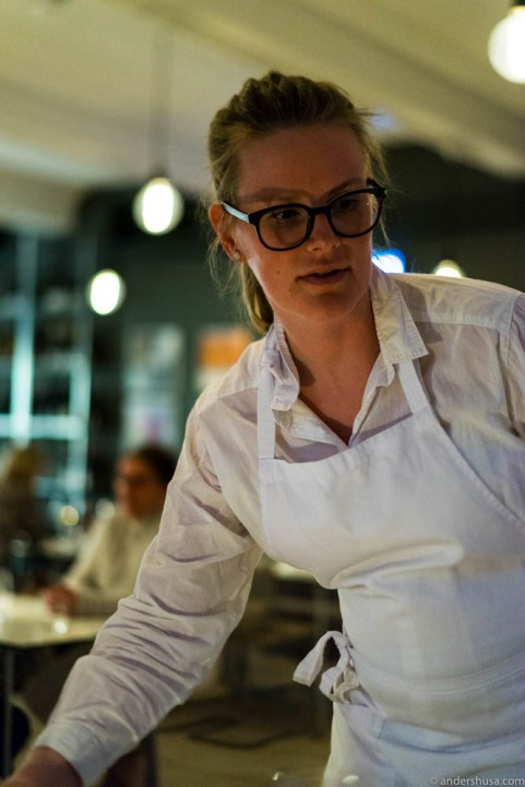 Restaurant manager Veronica Carlsson
