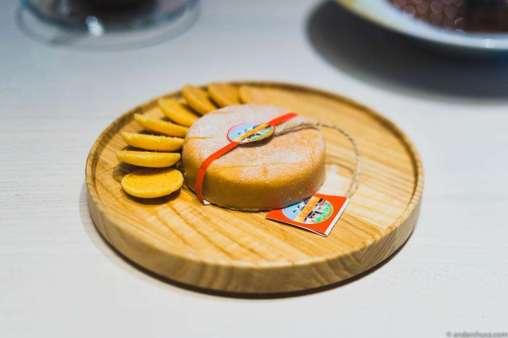 Jasper Hill Farm Cheesecake with hazelnut, white chocolate & cookies (by Albert Adrià of restaurant Tickets in Barcelona, Spain, 2015)