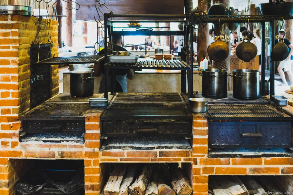 The Noma Mexico kitchen with open fire grills