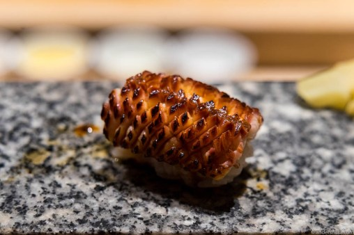 Anago smoked Danish eel with sweet soy