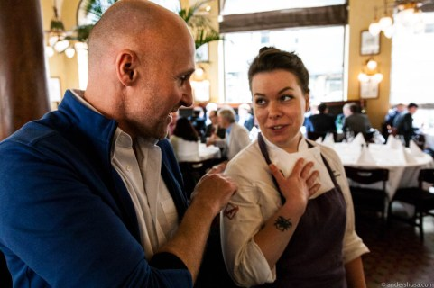 Ole Martin Alfsen and head pastry chef Linda Roalstad
