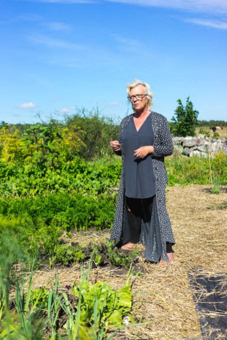 Tina-Marie Qwiberg is in charge of the kitchen garden