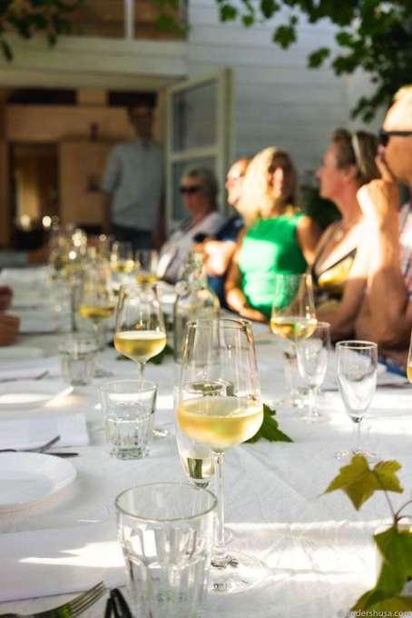 Wine is needed to make people talk