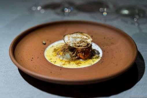 Eggplant, quail egg & Istrian truffle