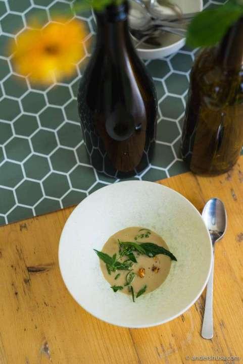 Ceps mushroom soup by Geranium