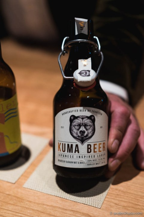 Frantzén's own Kuma Beer
