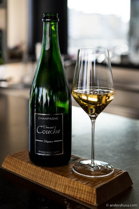 Champagne Vincent Coucher, Extra Brut, Elégance. Organic and biodynamic.