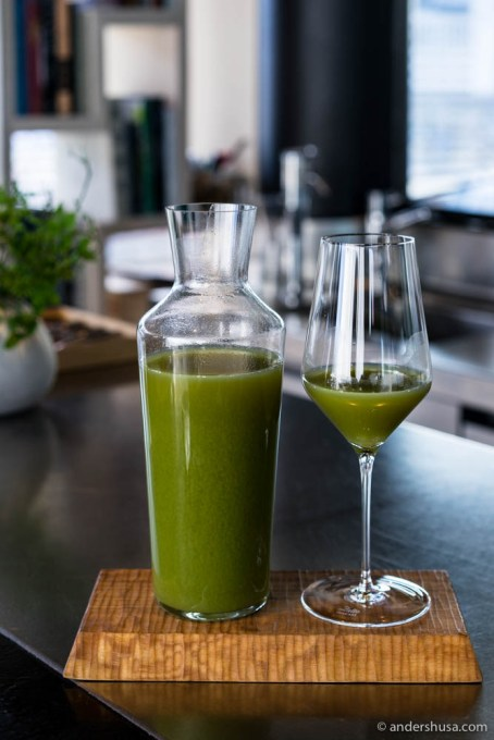 Maaemo makes all their juices in-house