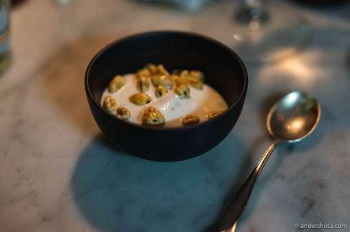 Sorbet, cream & honey smacks cereal