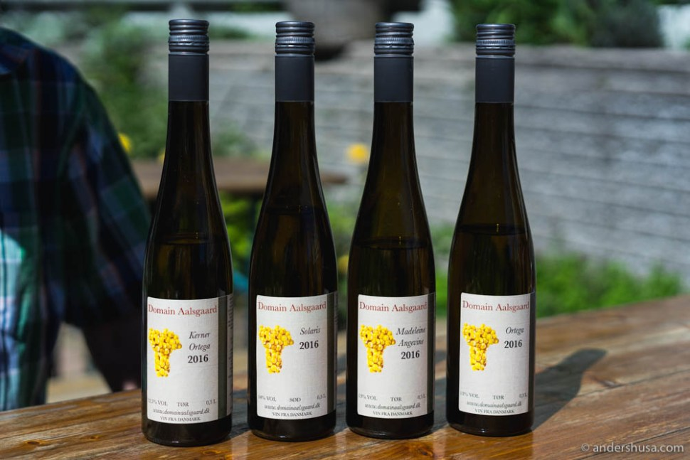 The selection from Domaine Alsgaard