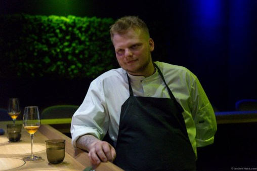 Head chef and co-owner, the alchemist Rasmus Munk