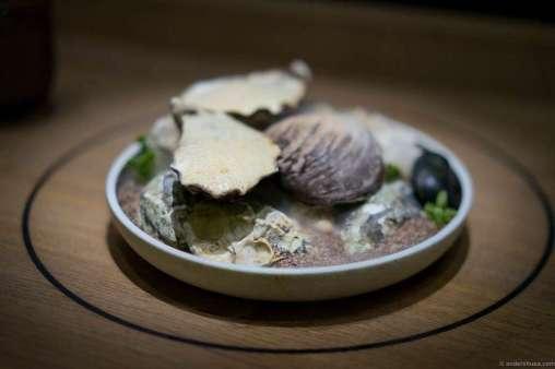 Gillardeau oysters and lardo