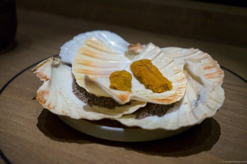 Sea urchin on toast