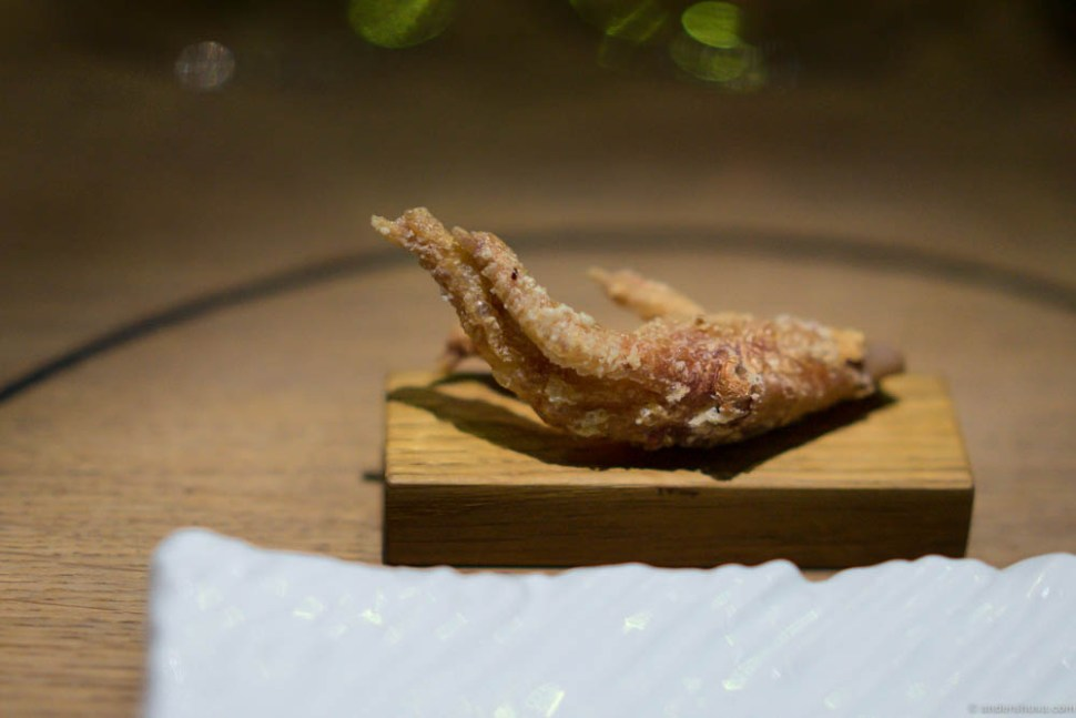 Crispy chicken foot