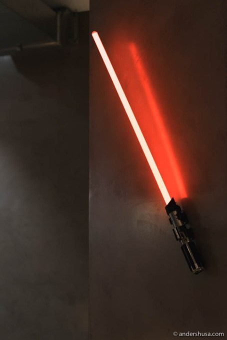 Lightsaber on the wall