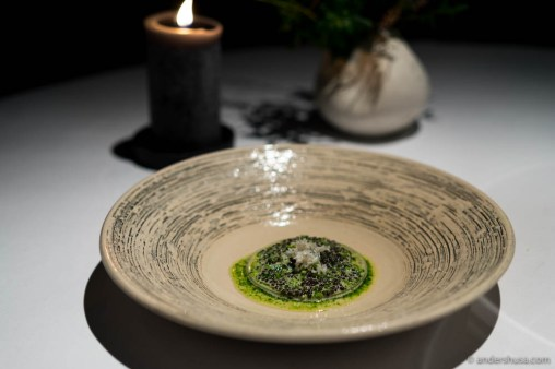 Lightly salted hake with buttermilk, parsley, and caviar by Rasmus Kofoed