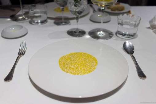 """""""Riso Levante"""" – the edible landscape surrounding lake Garda infused into a risotto"""