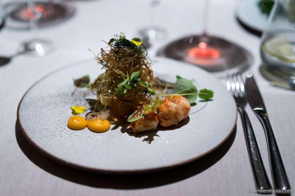 Flusskrebssalat – crayfish salad