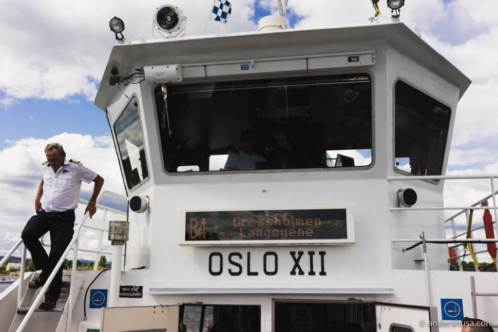 One of the many public ferries that will take you to Gressholmen