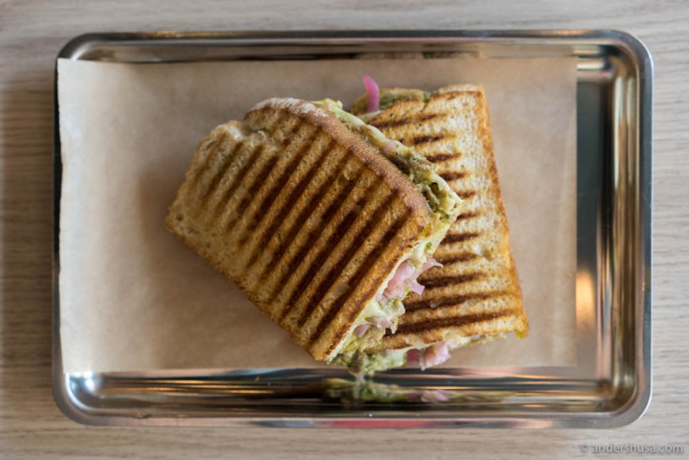 Grilled Cheese Sandwich With Duck & Ramson