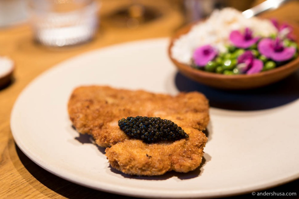 The actual Schnitzel Deluxe that we will have at Barr