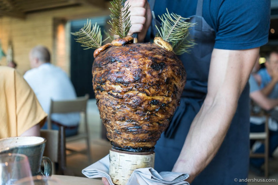 Presenting the celeriac shawarma