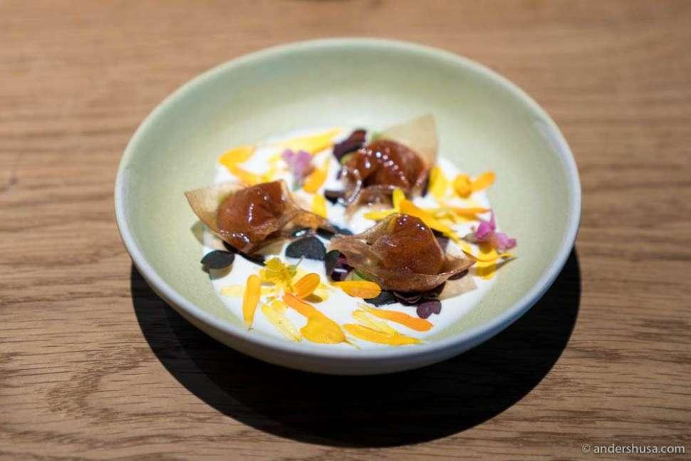 """Berries and cream that tastes like the Danish dessert """"rødgrød med fløde."""""""