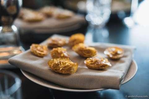 Foie gras tarts with apricots & orange zest