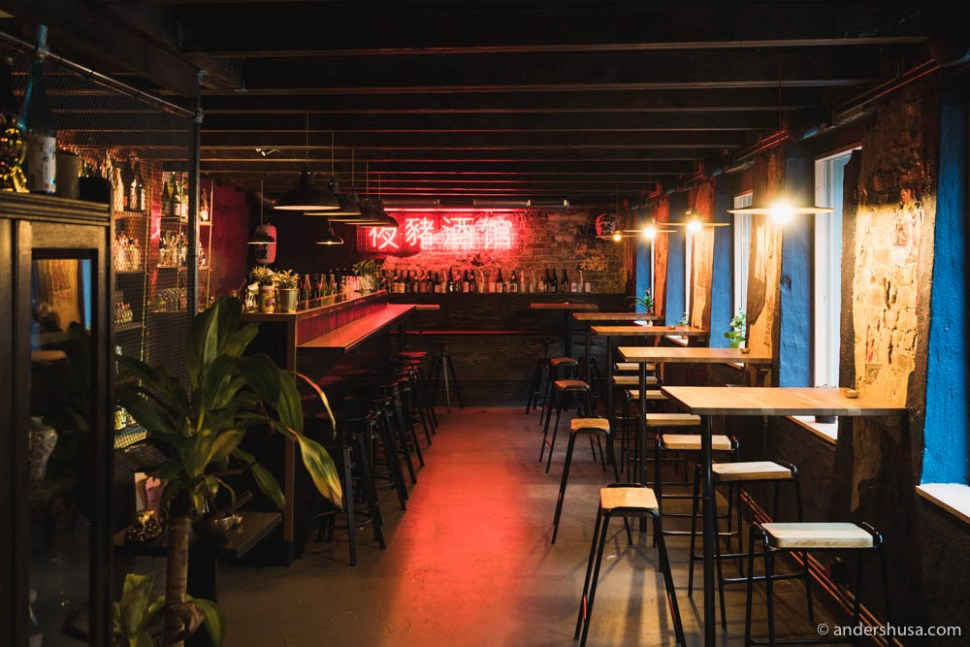 The bar downstairs is a drop-in zone. No bookings here!