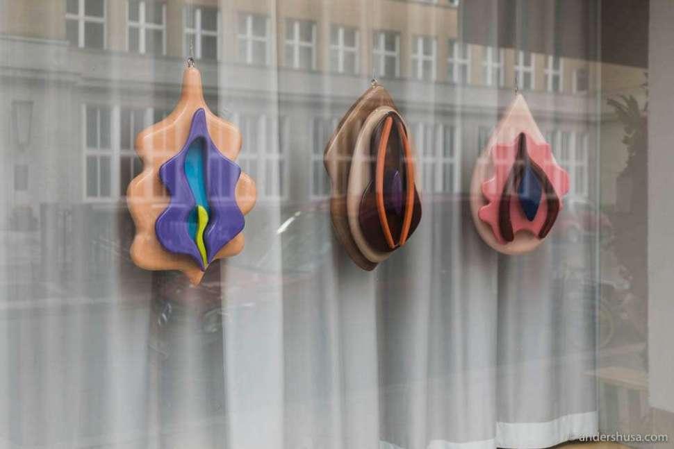 Vulva art in the windows