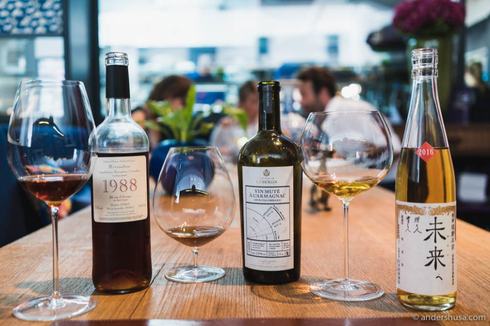 Multiple dessert wine pairings selected by André Macionga