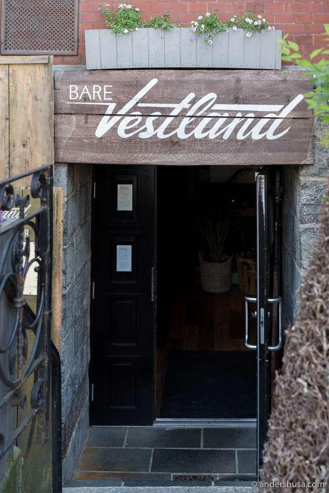 Restaurant Bare Vestland in Bergen