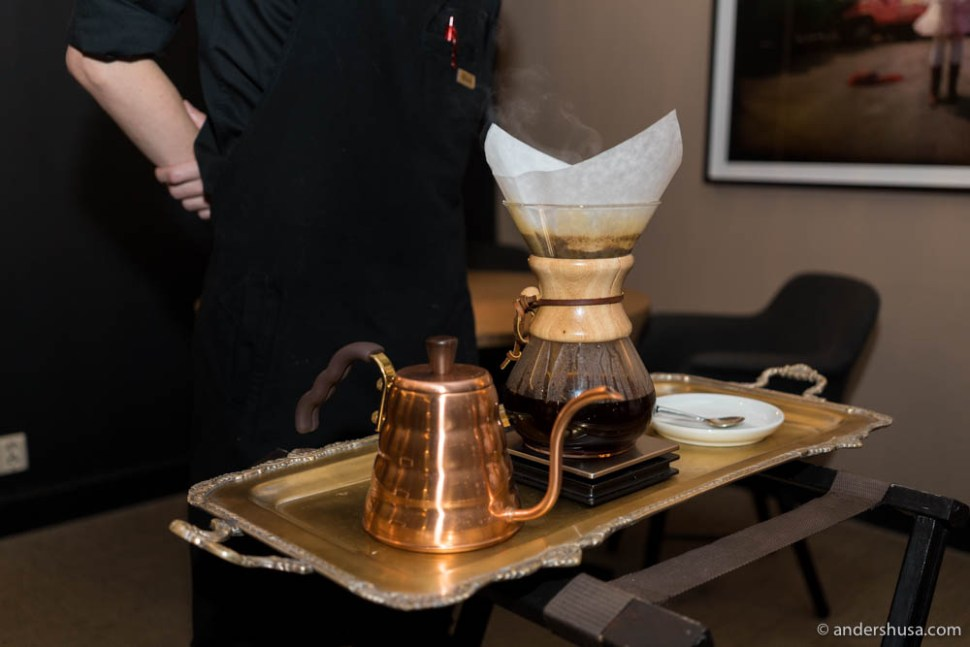 Chemex coffee to end the night