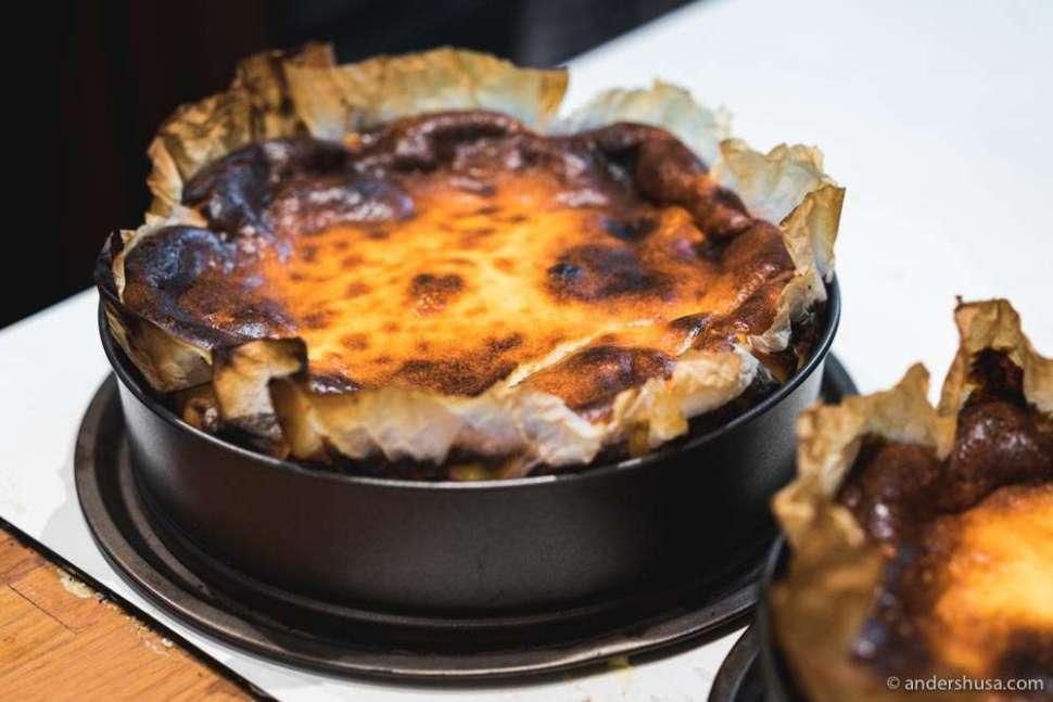 The original Basque cheesecake from La Viña in San Sebastian.
