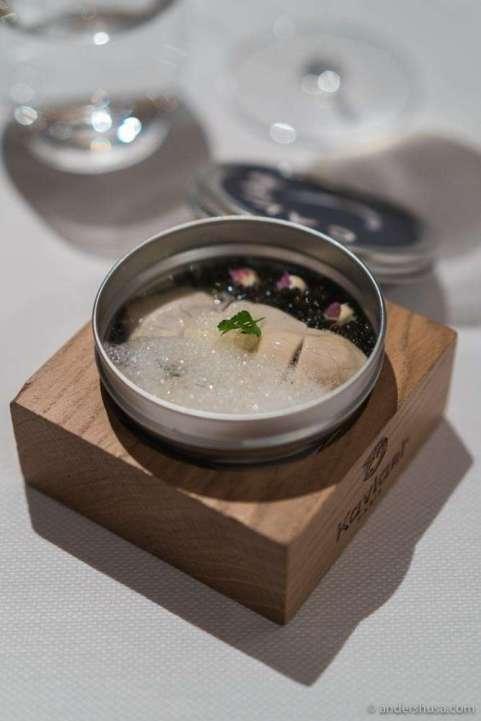 Irish oyster & Devon' Exmoor caviar