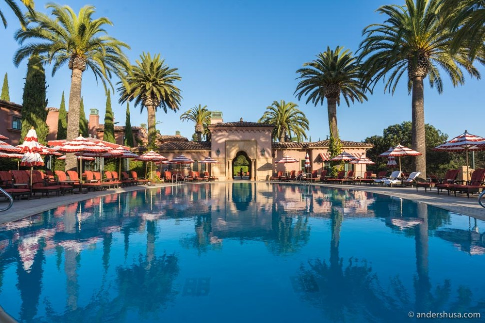 The spectacular main swimming pool at the Fairmont Grand Del Mar.